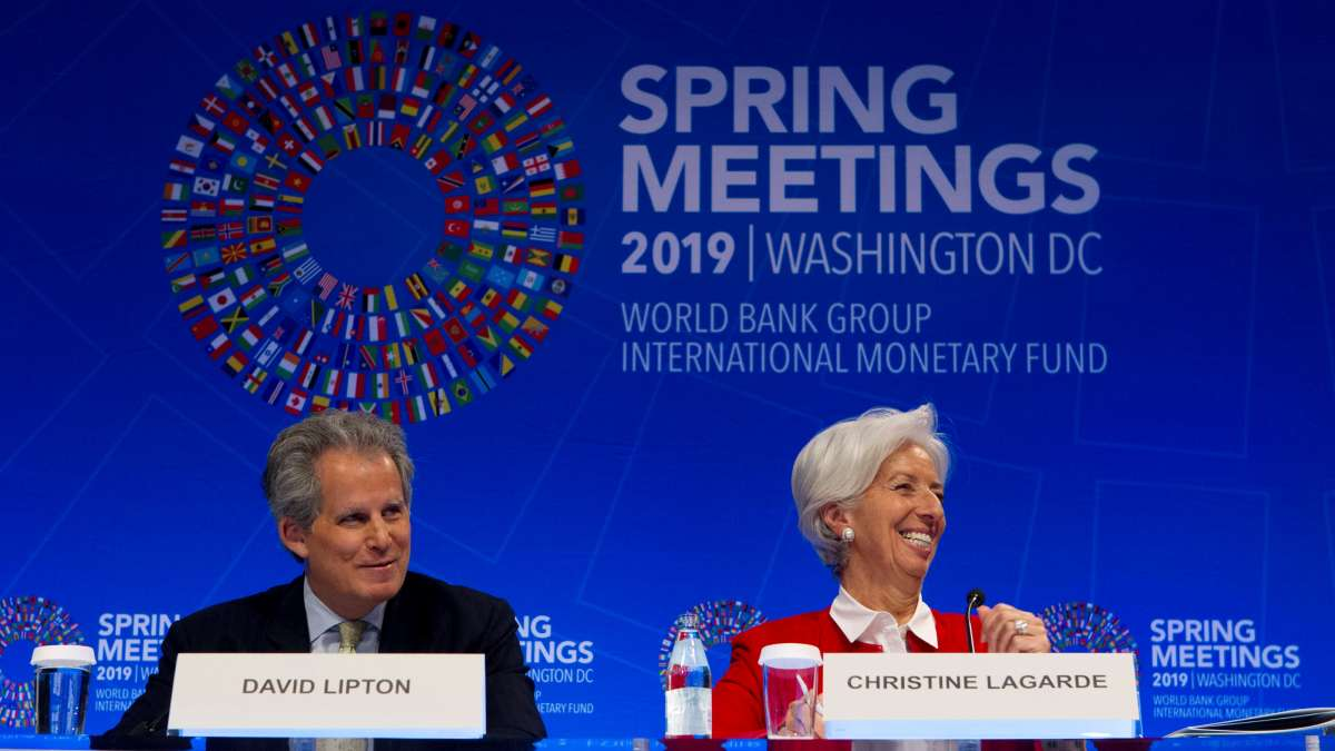 David Lipton y Christine Lagarde / AP
