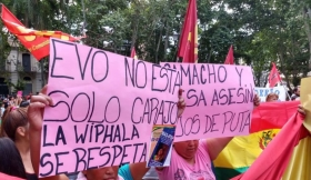 """Residentes de Bolivia: """"Estamos de pie y vamos a resistir"""""""
