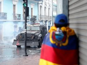 La ciudad de Quito estuvo varios días militarizada, luego de la implementación del estado de excepción.