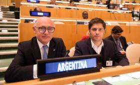 El canciller Héctor Timerman y el ministro de economía Axel Kicillof en el recinto central de la ONU en Nueva York