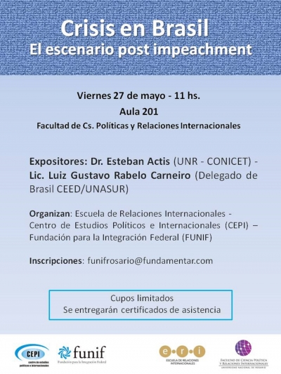 """Crisis en Brasil: el Escenario Post-Impeachment"""