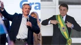 Sin ser más que candidato a la Presidencia, Alberto Fernández ya debe lidiar con Bolsonaro.