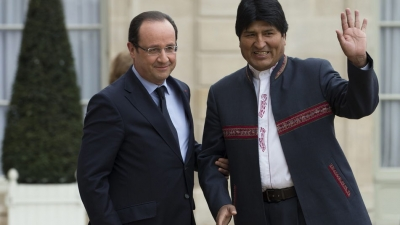 Presidentes Morales y Hollande