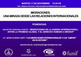 Invitación: Migraciones, una mirada desde las Relaciones Internacionales